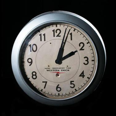 "Western Union ""Naval Observatory"" Wall Clock"