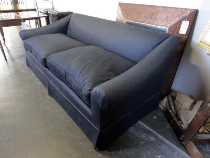 SLOPE ARM SOFA IN DEEP CHARCOAL FABRIC