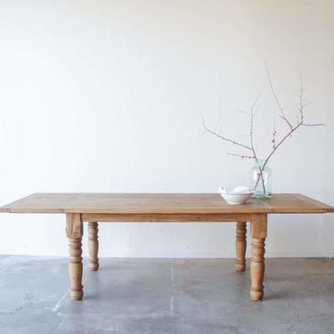 Reclaimed Wood Extending Farm Table   Floor Sample