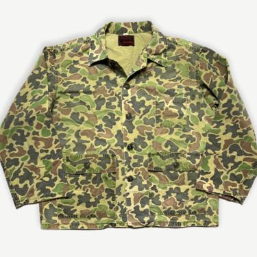 Vintage 1970s RANGER Frogskin Camouflage Cotton Ripstop Jacket ~ M ~ Vietnam War ~ Civilian Camo ~ Duck Hunter ~ Beo Gam by SparrowsAndWolves