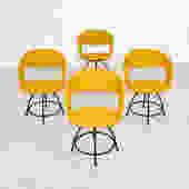Vintage Arthur Umanoff chairs in mustard
