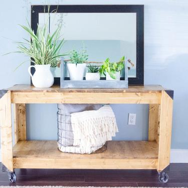 Entryway Table, Console Table, Farmhouse Entry Table, Rustic Entry Table, Industrial Console, Entryway Table, Rustic Media Table by ArcherHomeDesigns