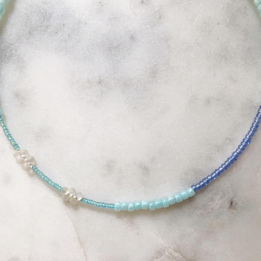 Block Party Collection No. 7 // handmade beaded choker // color block necklace by mammothandminnow