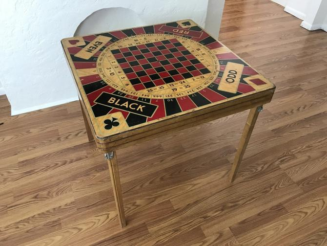 RETRO/MID CENTURY Folding Monte Carlo Game/Card Table (Los Angeles) by HouseCandyLA