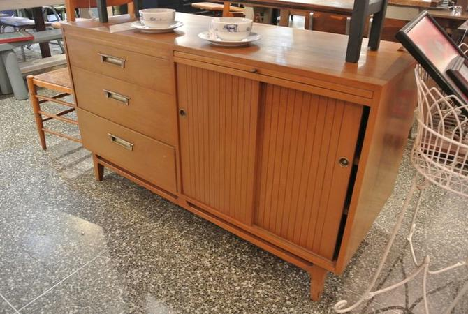MCM style two-sided buffet with shelves on back. $695