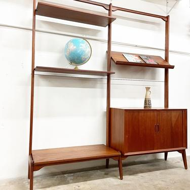 Erik Buch Rare Danish Mid Century Modern Wall or Shelf Unit Freestanding by FlipAtik