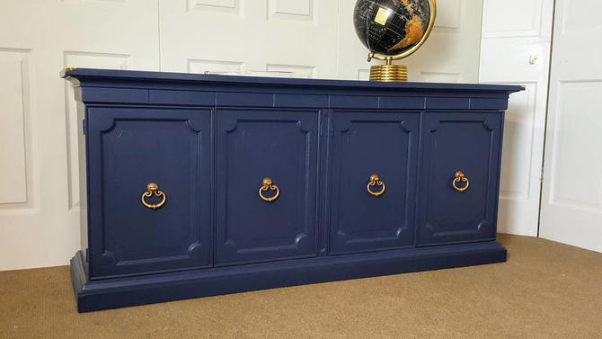 Navy blue buffet / sideboard / credenza by UniquebyRuth - Navy Blue Buffet / Sideboard / Credenza By UniquebyRuth From