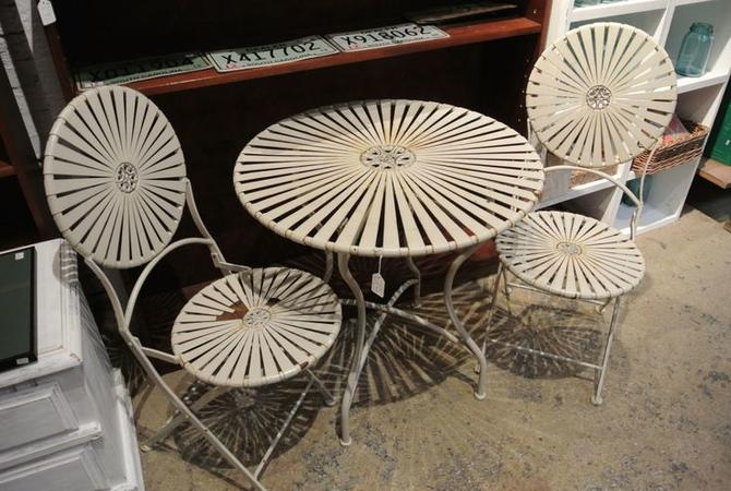 Three piece patio table and chair set. $295