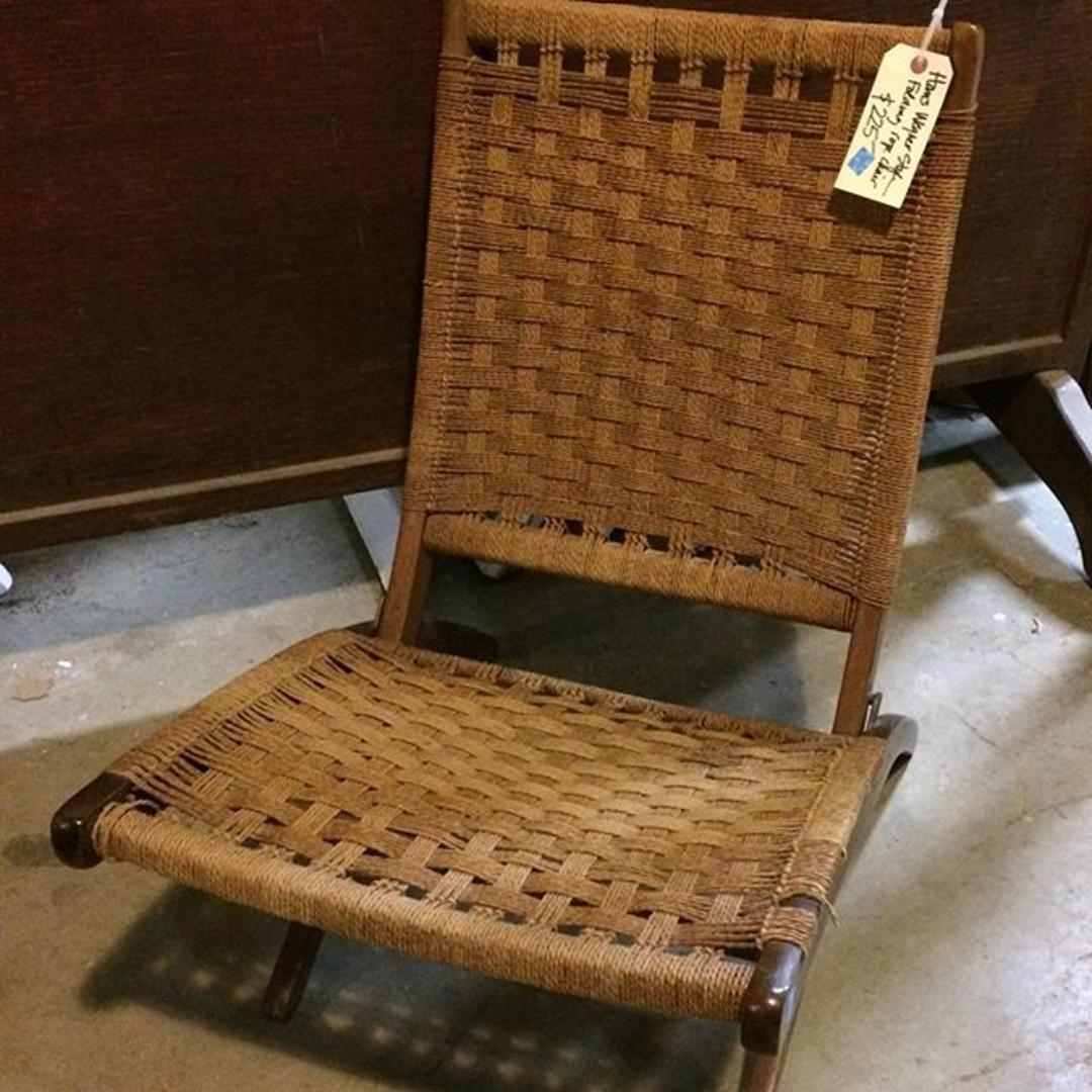 Hans Wegner Style Folding Rope Chair From Community Forklift Attic
