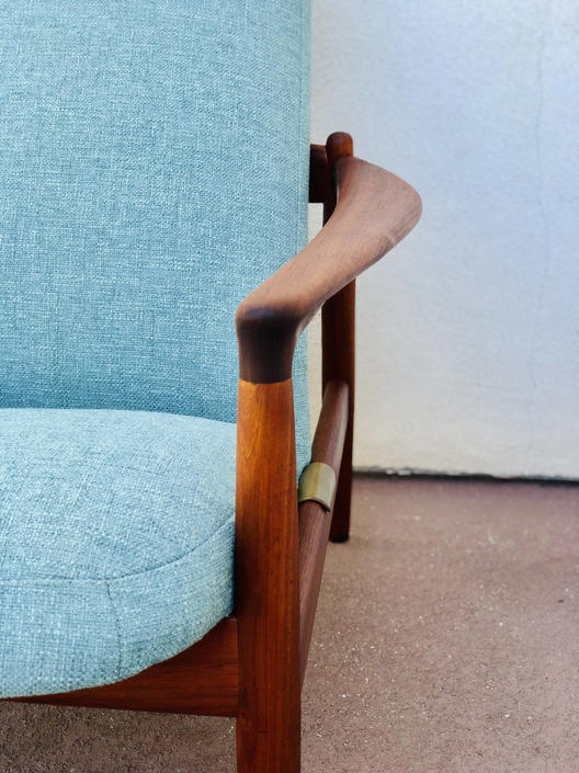 Vintage Folke Ohlsson Teak Lounge Chair for Dux 1960s by BentwoodVintage