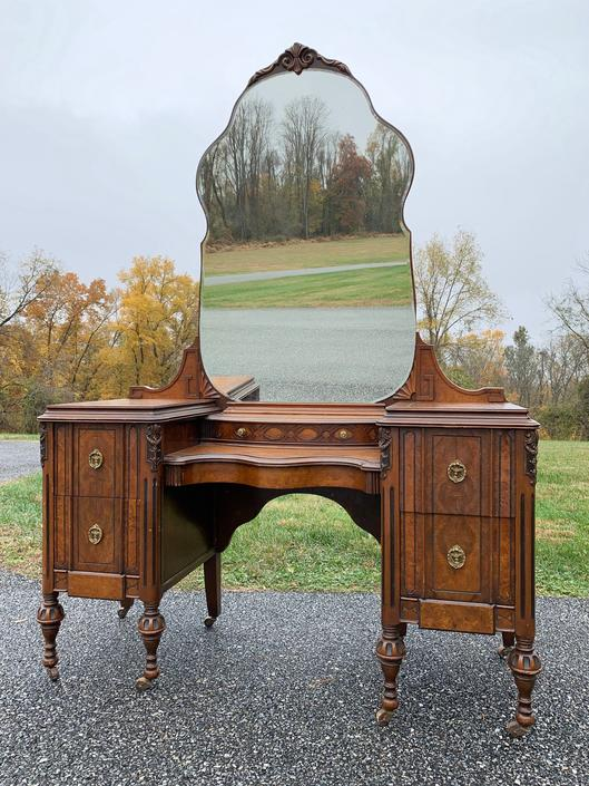 Antique Vanity with Mirror - Available to Customize by ForeverPinkVintage