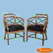 Pair of McGuire Arm Chairs