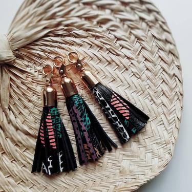 Leather Tassel Key Fob - Adaora by rkitekt