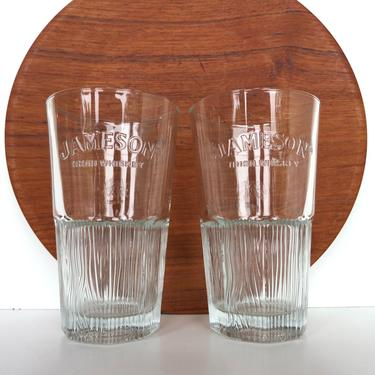 Set Of 2 Jameson Highball Glasses, John Jameson And Son Irish Whiskey Tumbler Set by HerVintageCrush
