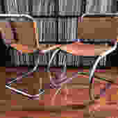 Pair of Mies Van Der Rohe MR10 chairs