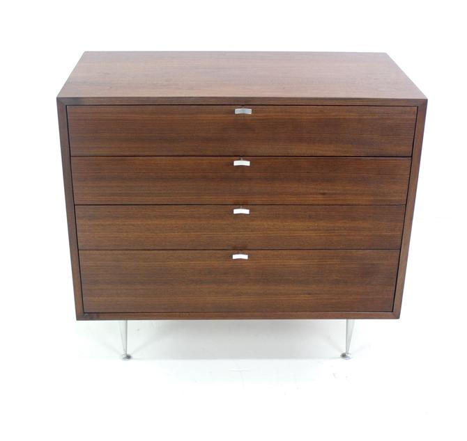 Rare Mid-Century Modern Walnut Chest Designed by George Nelson for Herman Miller