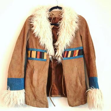 Suede & Denim Rocker Jacket