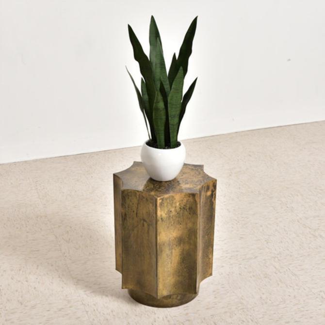Bronze Sculptural Side Table