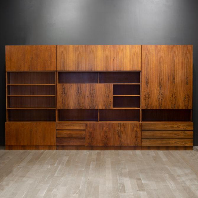 Mid-century Rosewood Modular Wall Unit Designed by George Satink for WK Mobel c.1950