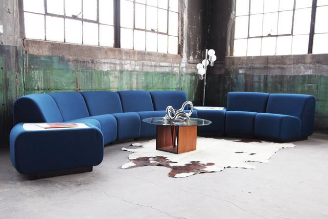 SOLD**POSTMODERN Stunning Modular Sculptural Nine pc curvlinear MCM Modernist Tappo sectional by John Mascheroni for Vecta, Italy, Steelcase by CatchMyDriftVintage