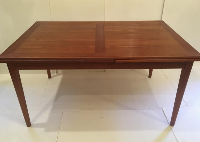 Danish teak refractory dining table  by Skovby by ClassicAntiquesPHL