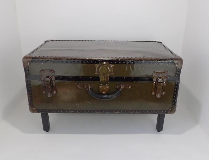 Sensational Coffee Table Trunk Military Army Footlocker Cabinet Storage Machost Co Dining Chair Design Ideas Machostcouk