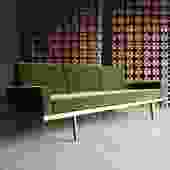 Mel Smilow Rail Back Sofa for Smilow-Thielle, circa 1955