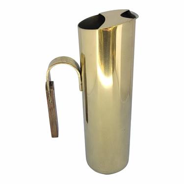 READY Mid-Century Modern- Style Brass Plated Martini Pitcher