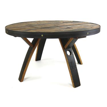 Bourbon Barrel Coffee Table - Barrel Furniture - Round Living Room Table by HungarianWorkshop