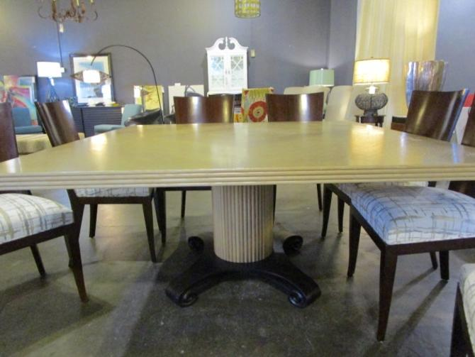 PEDESTAL DINING TABLE BY BAKER