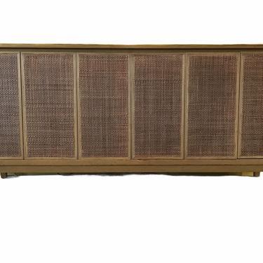 Mid Century Modern Paul McCobb Cane Front 8-Drawer Dresser for Calvin Furniture 1950s