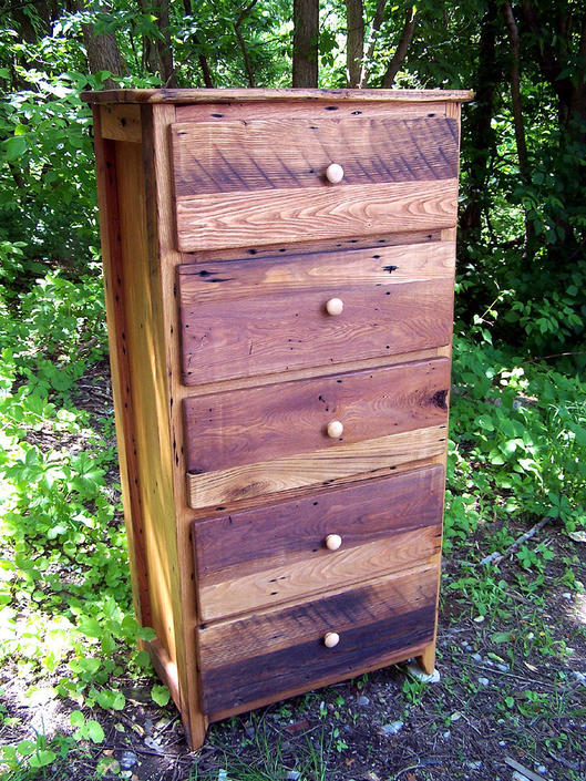 FREE SHIPPING! Reclaimed Wormy Chestnut Tallboy Lingerie Dresser from Antique Barn Wood by BarnWoodFurniture