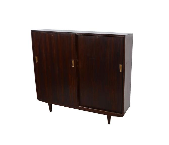 Rosewood Bookcase Cabinet Mid Century Modern by HearthsideHome