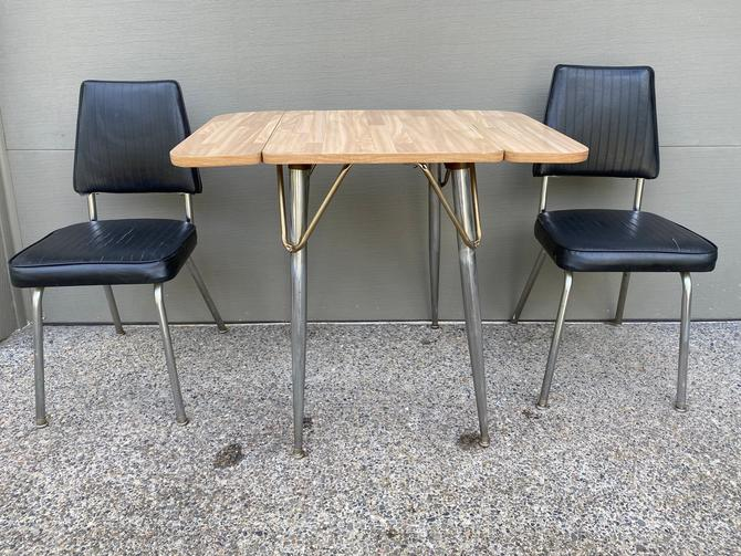 Mid Century Chromcraft Style Kitchen Table and Chairs for 2 by DesertCactusVintage