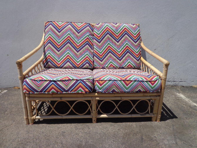 Tremendous Rattan Sofa Couch Loveseat Seating Bohemian Boho Chic Ibusinesslaw Wood Chair Design Ideas Ibusinesslaworg