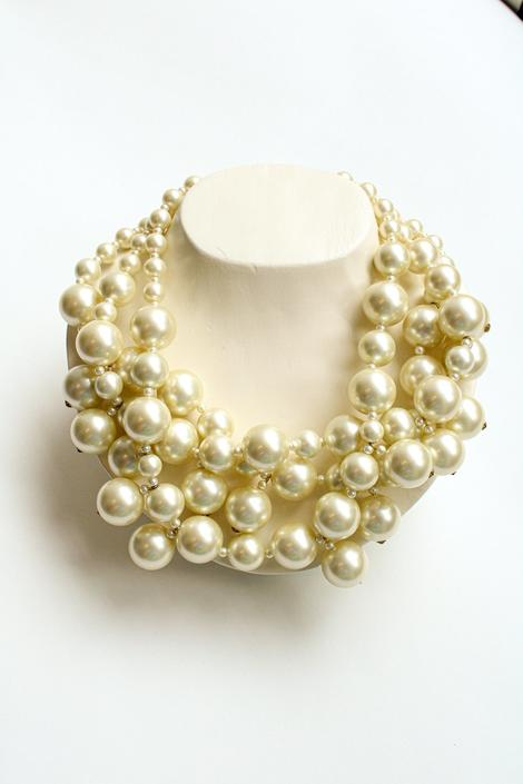 Kenneth Lane Oversized Pearl Statement Necklace