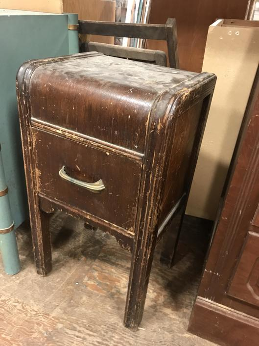 "Small waterfall nightstand 15"" W 12"" D 26"" H"