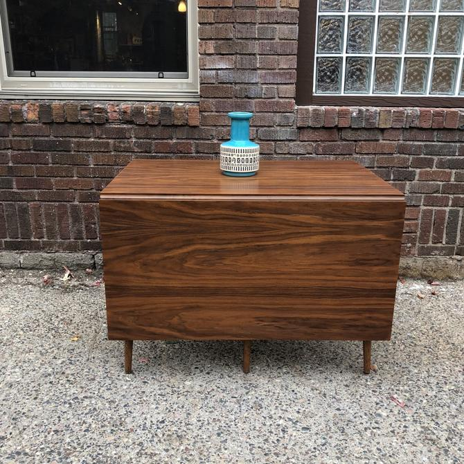 Refinished Mid-Century Drop Leaf Dining Table