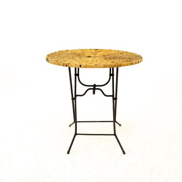 Mid Century Rattan Top Folding Side End Table - mcm by ModernHill