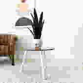 """""""Mona"""" Sleek Oak and White Side Table"""