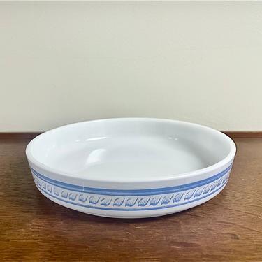Vintage Pyrex Brittany Blue Quiche Tart Dish, 484-b, MCM Retro Kitchen by BlackcurrantPreserve