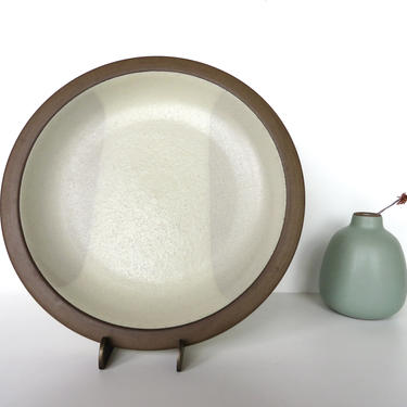 "Set Of 2 Vintage Heath Ceramics 9 1/2"" Plates, Edith Heath Two-Tone Contemporary Luncheon Plates, Heath Ceramics Rim Line Dinner Plates by HerVintageCrush"