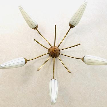 Mid Century Spider Lamp, Sputnik Ceiling Lamp, Vintage Ceiling Fixture, Atomic 6-armed Lamp, Ceiling Lamp Light Fixture Stilnovo by dadacat