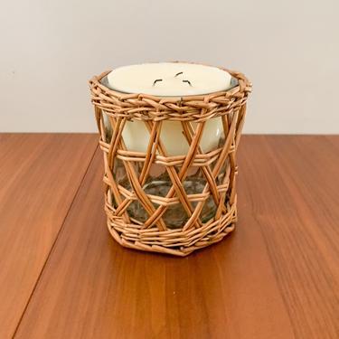 Rattan candleholder or vase by FrankiesVintageTrunk