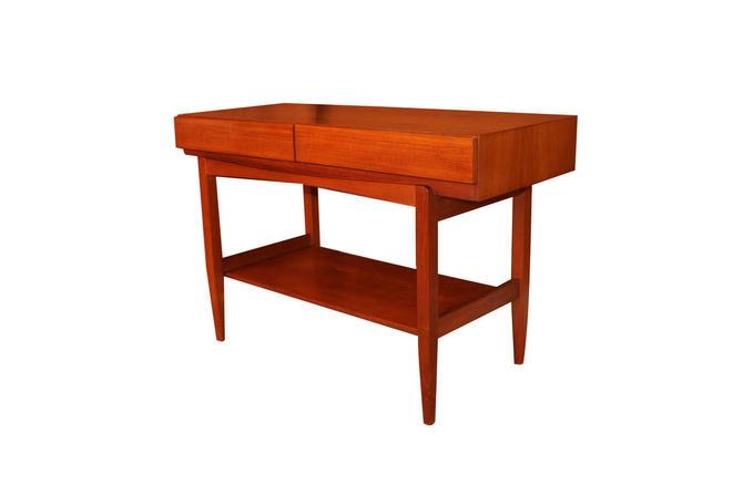 Mid Century ib Kofod Larsen Teak Console Table For Faarup Mobelfabrik by Marykaysfurniture