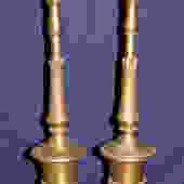 Pair of Cast Brass Finials