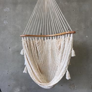 Vintage Crochet Hammock Swing Chair