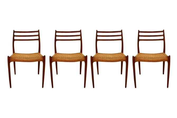 Mid Century Niels Otto Moller Model 78 Teak Dining Chairs by Marykaysfurniture
