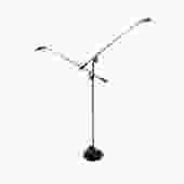 Kovacs Robert Sonneman Black Double Feather Floor Lamp by HearthsideHome