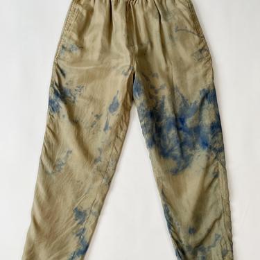 Tie-Dye Silk Drawstring Pants